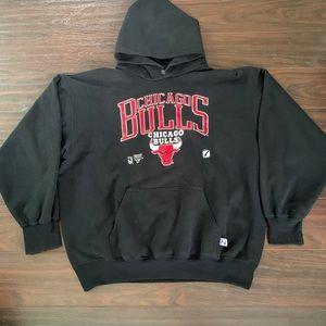 Vintage Chicago Bulls hoodie logo 7 XL